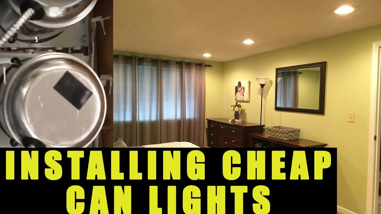 How to Install & Wire Can Lights / Recessed Lights - YouTube