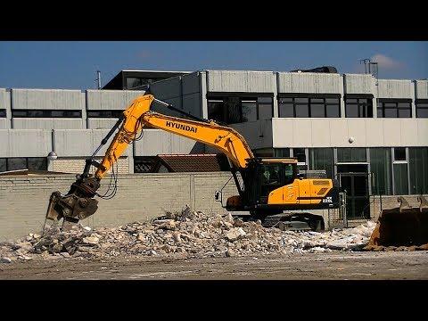 Abbruch Supermarkt in Papenburg - Hyundai HX220L / Demolition with a Hyundai HX220L
