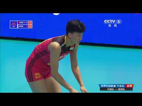 2018 FIVB Volleyball National League (Ningbo) China VS South Korea YUAN Xinyue Highlights