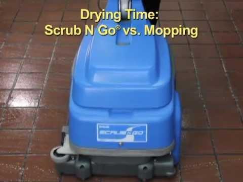 The Scrub N Go 174 Floor Scrubber Vac System Youtube