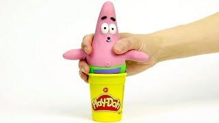 Patrick Spongebob 💕  Superhero Clay Stop motion cartoons