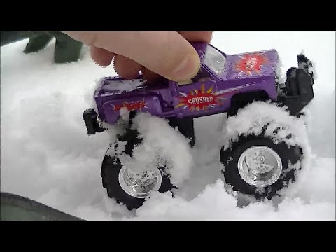 COOL Monster Trucks, Toys ,Games, Funny, Shapes, Colors, Abc's