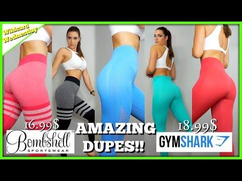 BOMBSHELL Sock leggings & GYMSHARK Energy seamless DUPES!