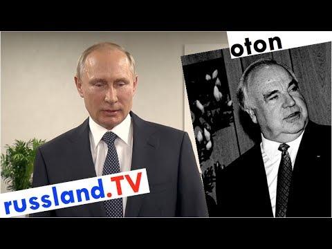 Putin über Helmut Kohl auf deutsch