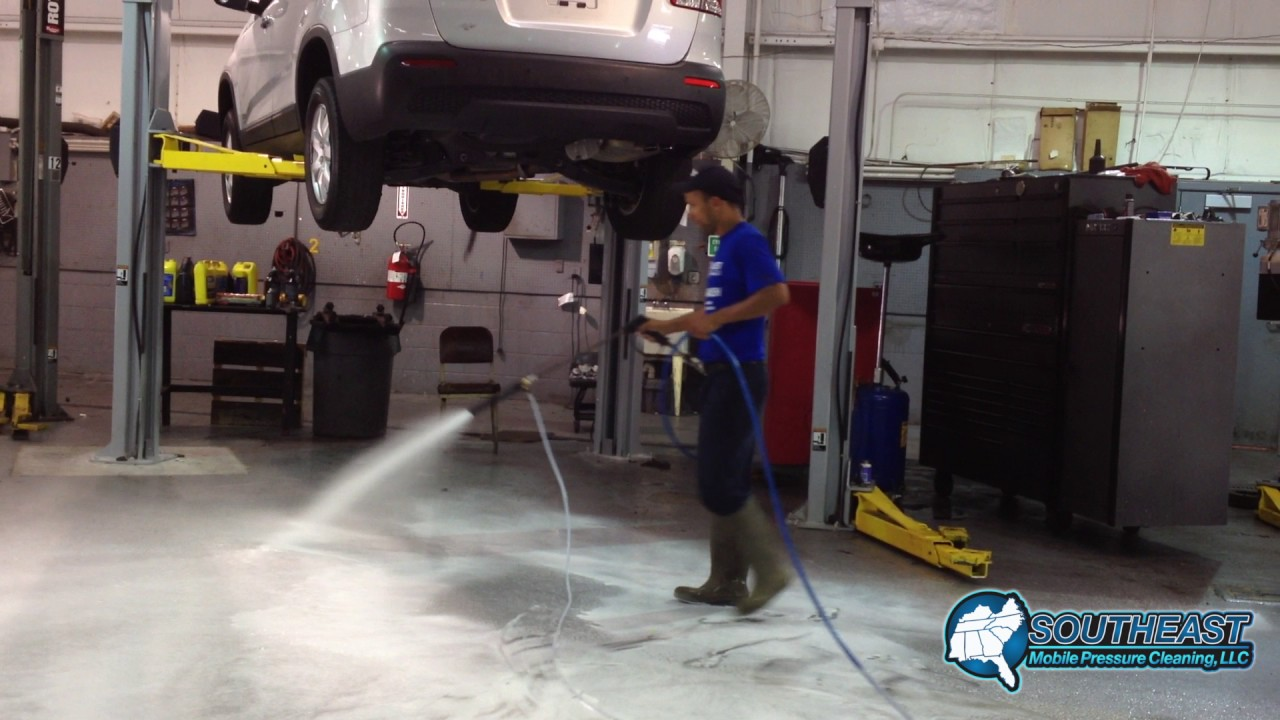 Auto Garage Pressure Washing Charleston Sc Youtube