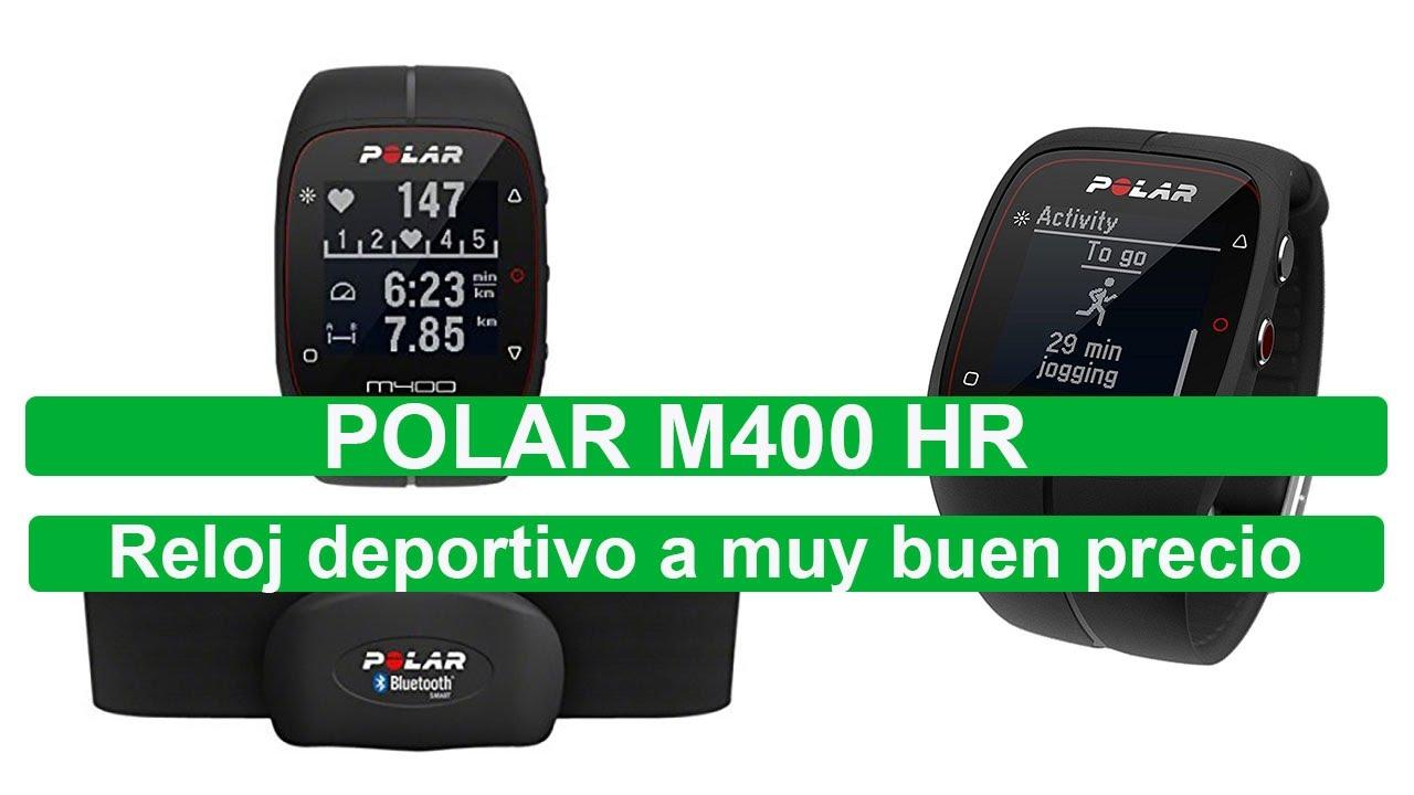 511d181096d5 Polar M400 HR reloj de entrenamiento con GPS a muy buen precio - YouTube
