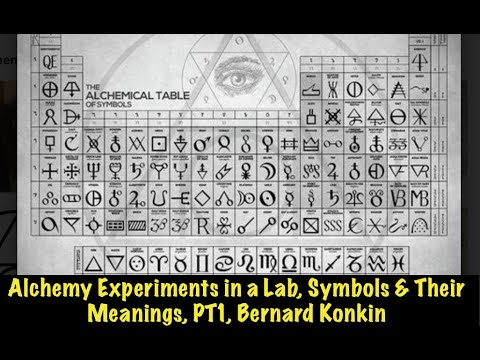 Alchemy Experiments in a Lab, Symbols & Their Meanings, PT1, Bernard Konkin