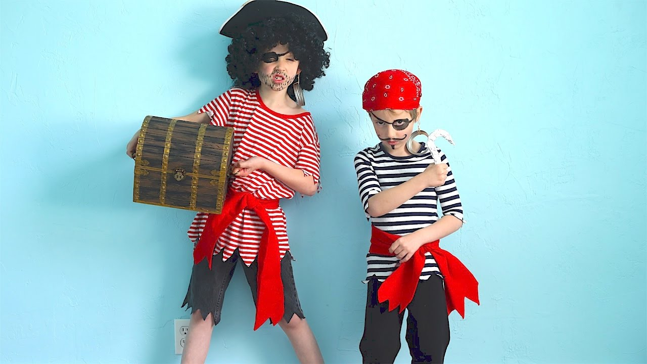 how to make pirate costumes quick and easy! - youtube