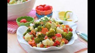Nefis Karnabahar ve Brokoli  Salatası Yapılışı ( Çay  sofralarının gözde  tariflerinden)
