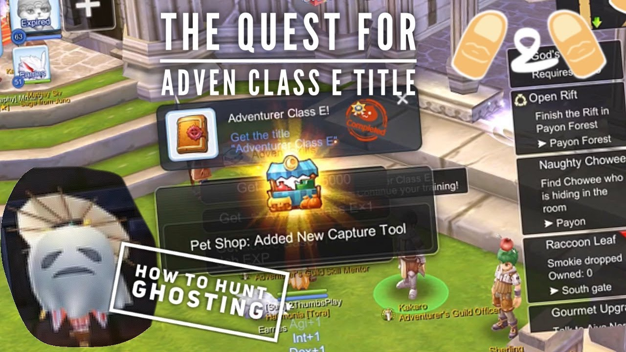 Ragnarok Eternal Love Where to find Ghostring Ghosting Ghost Camera  Adventurer Adven Class E Guide