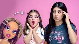 BRATZ DOLL TRANSFORMATION ON DAUGHTER! (SHE HATED IT!!!)