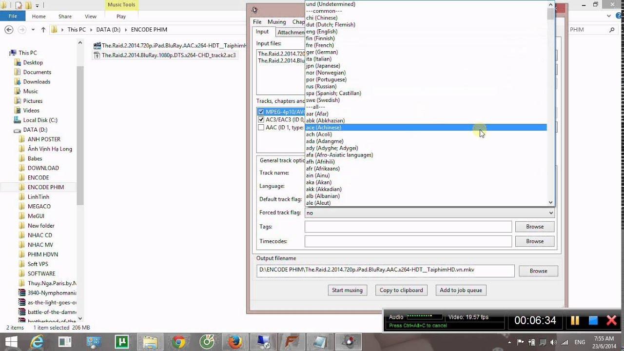 Hướng Dẫn Remux Audio Sub bằng mkvtoolnix