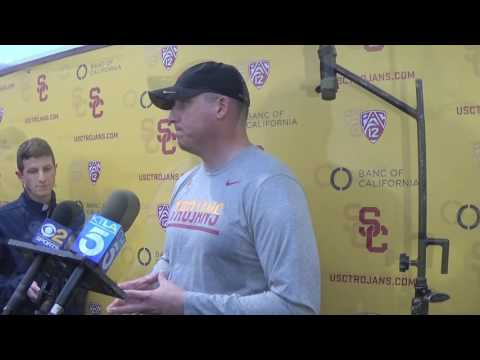 Clay Helton comments on Max Browne to Pitt