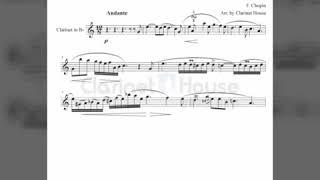 쇼팽 녹턴 9-2(Chopin Nocturne Op.9, No.2) 클라리넷 악보&MR