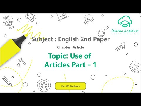 4  English 2nd Paper SSC   Article   Use of Articles    Part 1