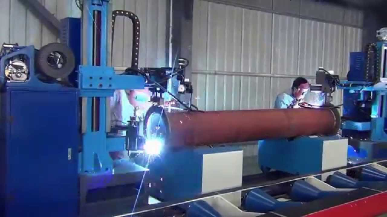 Automatic Pipe Flange Welding Machine Station With Double
