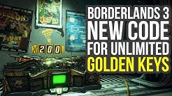 Borderlands 3 Golden Keys - New Shift Code For UNLIMITED GOLDEN KEYS (Borderlands 3 Shift Codes)