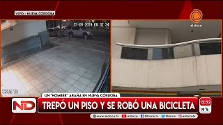 ¡ Insólito ! le robaron la bici del balcón del primer piso