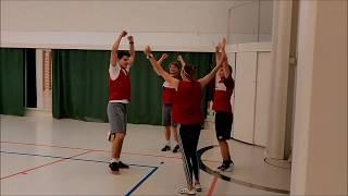 Lentopallotaitojen harjoittelua ryhmissä - Piirilentopallo