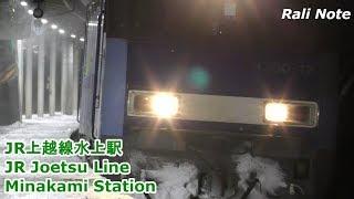 雪降り積もる水上駅の電車と貨物列車たち/Snowy station - Joetsu Line Minakami Station/2019.01.09