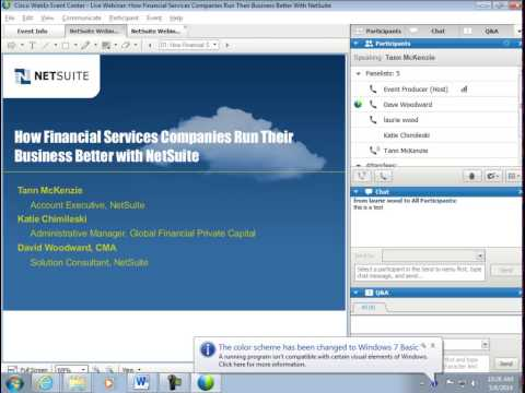 Live Webinar How Financial Services Companies Run Their Business Better with NetSuite