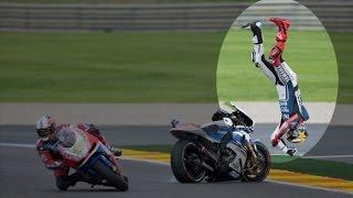 Летающие мотоциклы и падающие мотоциклисты - самые зрелищные подения