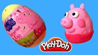 La Cerdita Peppa Pig Play Doh Egg Surprise Ovos de Pascoa Easter Eggs by Disneycollector