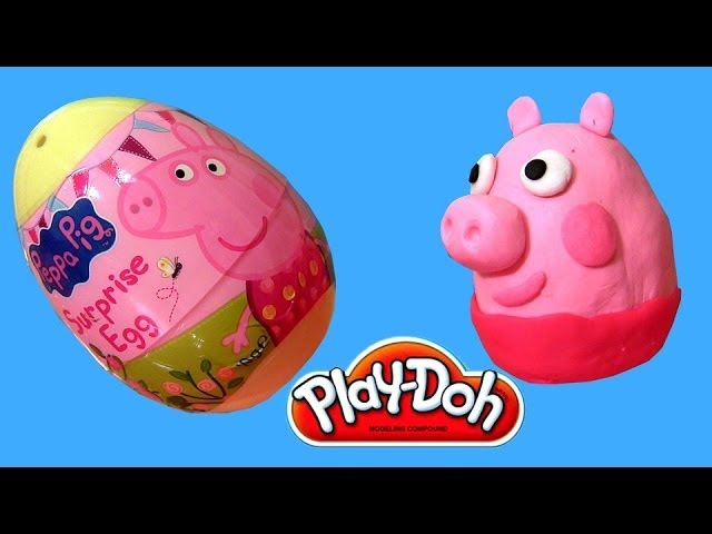 Porquinha Peppa Pig Play Doh Surprise Eggs Ovos de Pascoa Easter Eggs Disneycollector Vídeos De Viagens