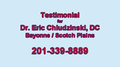 Back Pain Relief Patient Recommends Dr. Chludzinski in Bayonne, NJ