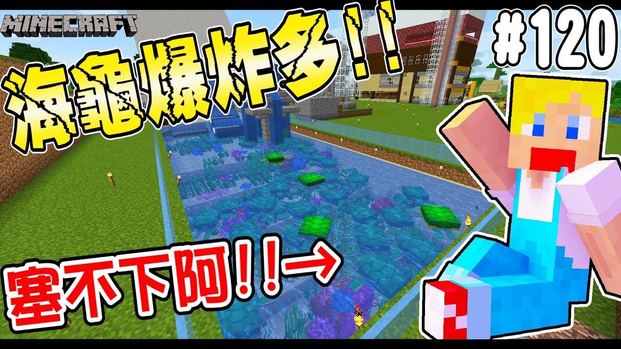 【Minecraft】蘇皮生存系列 #120 超會生的海龜!!! 一轉眼泳池又塞不下了... 【當個創世神】 - YouTube
