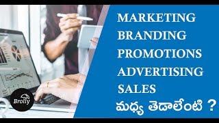 Definition of Branding, Marketing, Advertising, Promotion, Sales