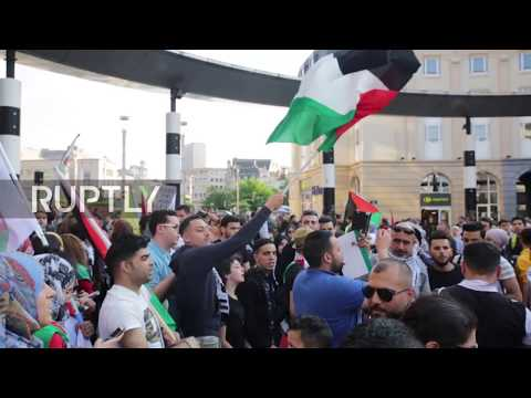 Belgium: 'Stop the Gaza massacre' protest tense in Brussels