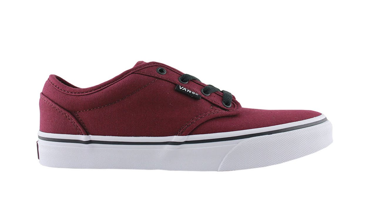 6fdfbc0d92dfb5 VANS ATWOOD CANVAS OXBLOOD BLACK KIDS - YouTube