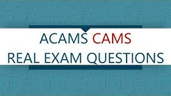 Practice ACAMS CAMS Real Exam Questions
