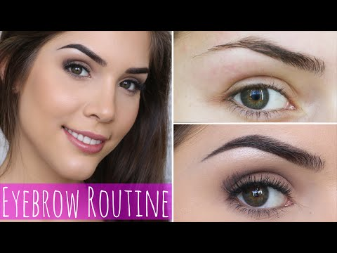 Updated Eyebrow Routine | How to fill in Dark Eyebrows ...