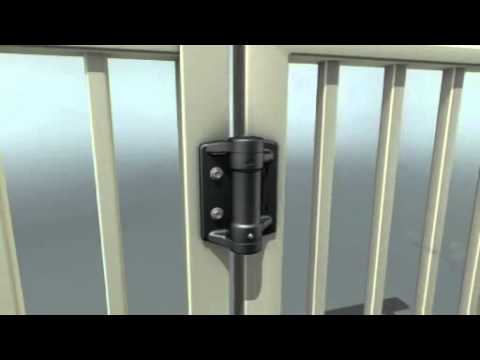 Tru Close Heavy Duty Adjustable, Self Closing Gate Hinge With 2 Alignment  Legs Installation Video