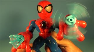 MARVEL PLAYSKOOL HEROES WEB SPINNING ELECTRONIC SPIDER-MAN ADVENTURES VIDEO TOY REVIEW