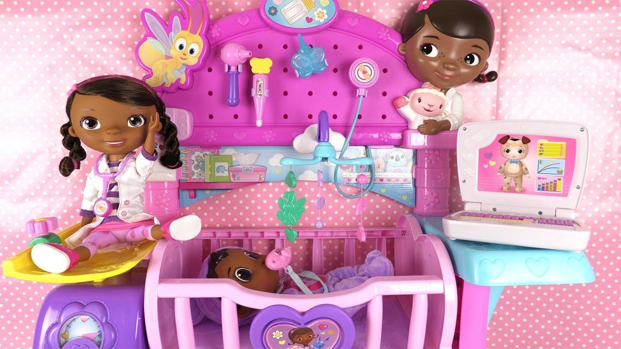 docteur la peluche jouets h pital doc mcstuffins hospital toy youtube. Black Bedroom Furniture Sets. Home Design Ideas