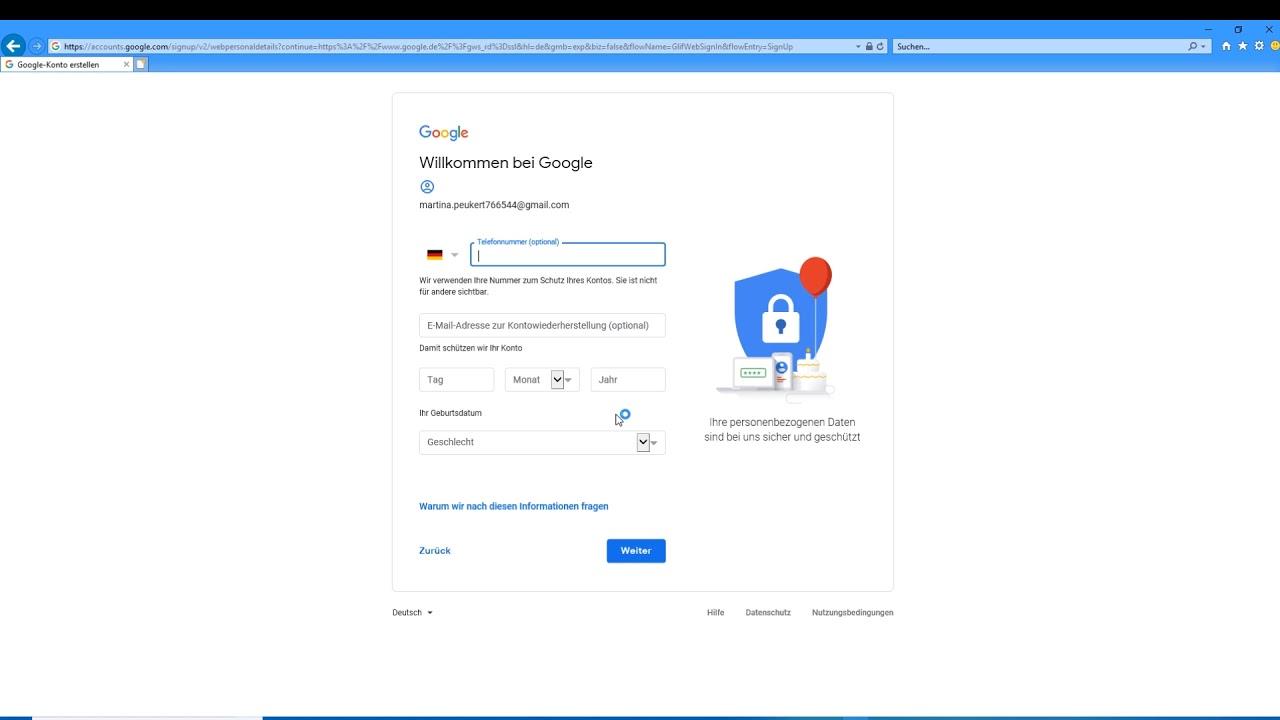 Google Mail Konto einrichten - Gmail - E-Mail Google