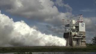 RS-25 Rocket Engine Test Firing