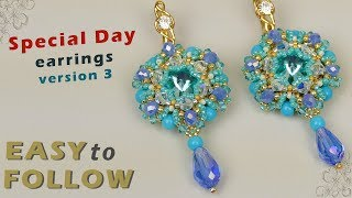 """Earrings """"Special Day"""" version 3 tutorial"""