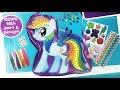 My Little Pony Stitch N' Style purse MLP Movie decorate your own Rainbow Dash bag