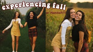experiencing fall for the first time! ft. Hannah Meloche