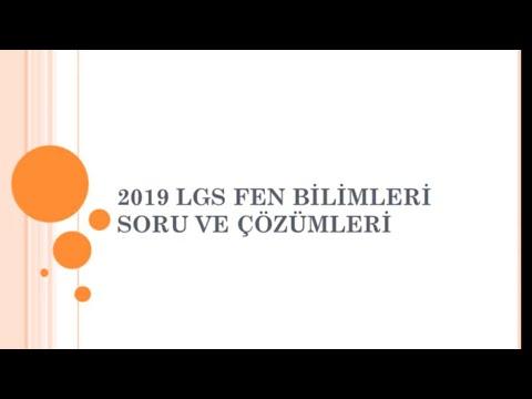 2019 LGS FEN BİLİMLERİ SORU VE ÇÖZÜMLERİ
