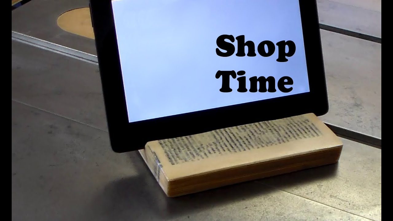 How To Make A Tablet Stand From a Book - YouTube