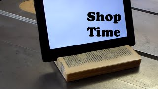 How To Make A Tablet Stand From A Book