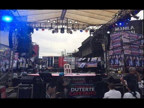 Proclamation rally ng Duterte-Cayetano, handa na