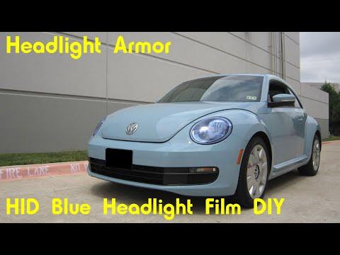 HID Blue Headlight Protection Tint Film DIY - Volkswagen Beetle - Headlight Armor