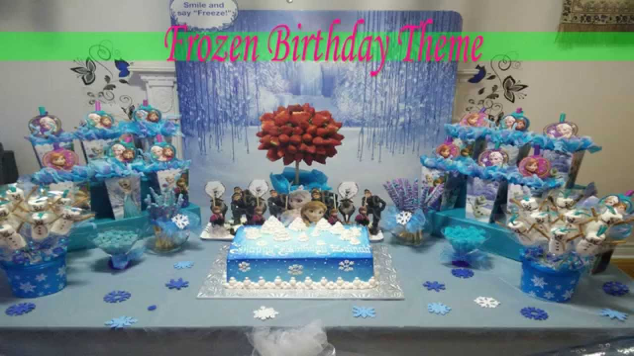 Frozen Birthday Theme Party Ideas YouTube
