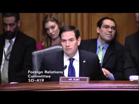 At Foreign Relations Committee, Rubio Questions Obama Administration On Arms Control Policies